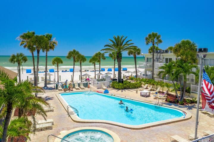 Beachfront Studio w/ Pool & Private Beach Area