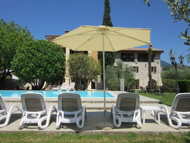 Rustico with balcony, garden and pool