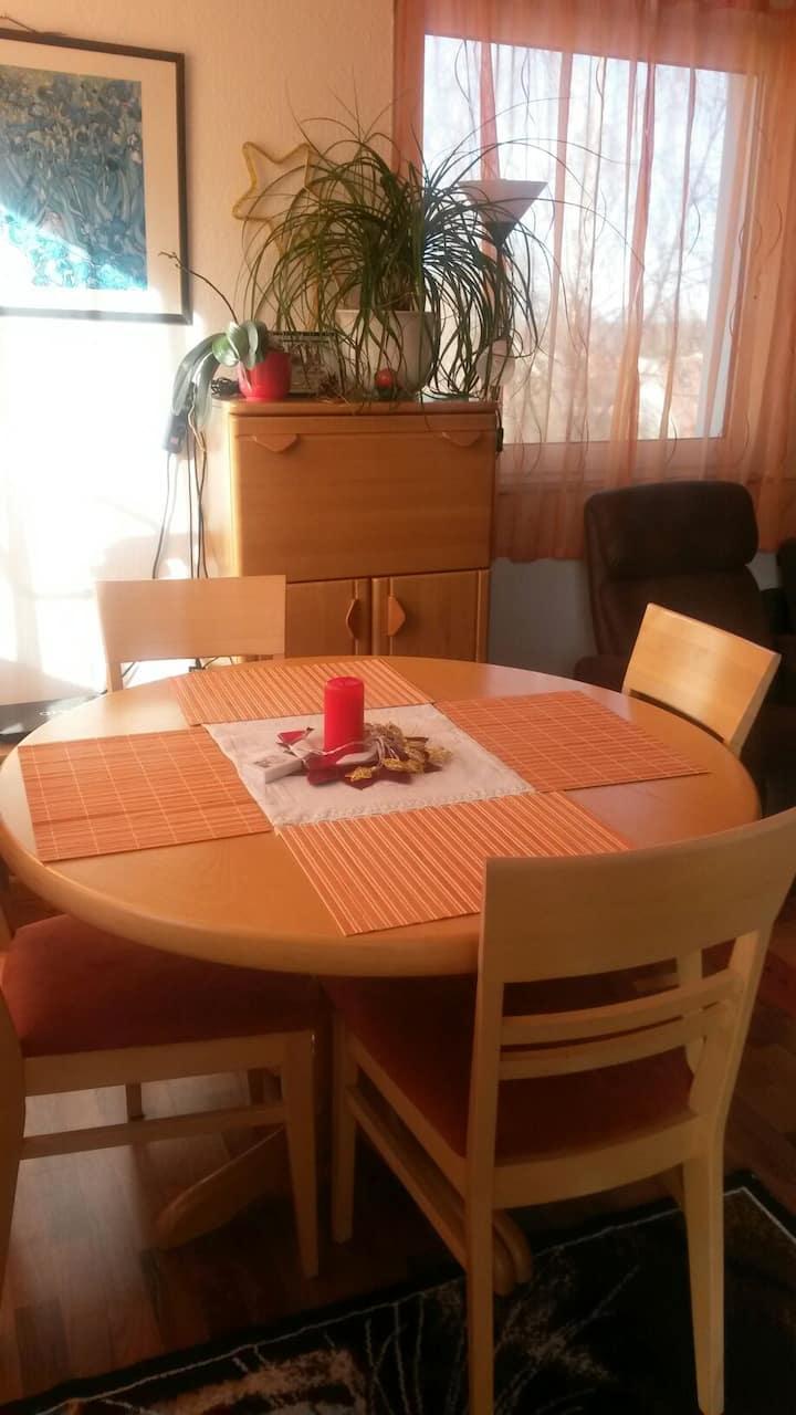 Ein klein Zimmer mit Gemütlich wohnen