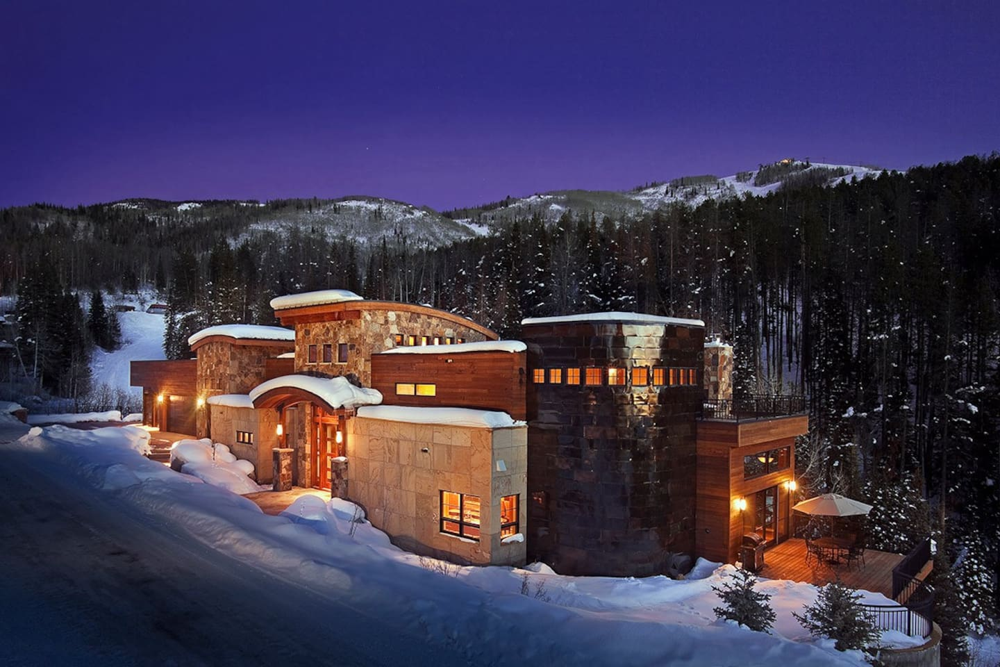 Over the Edge Chalet Winter