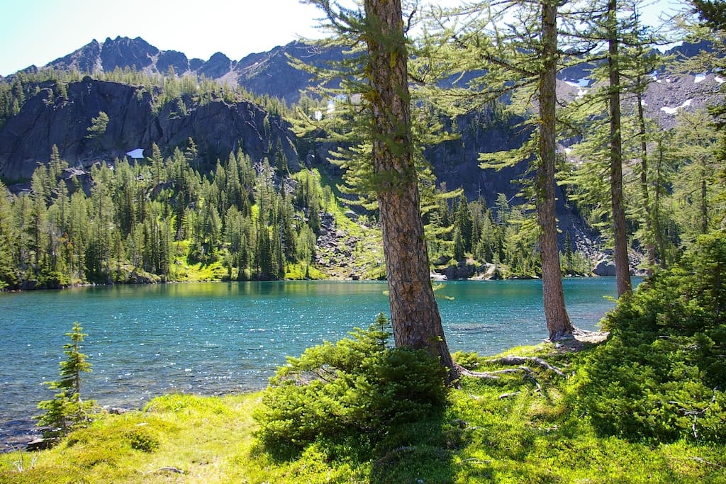 One of the Alpine Lakes accessible from High Camp