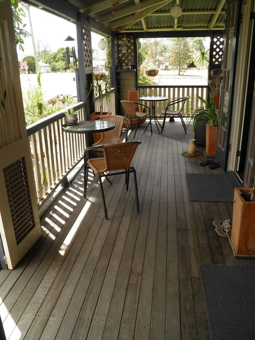 One of the verandahs to relax on