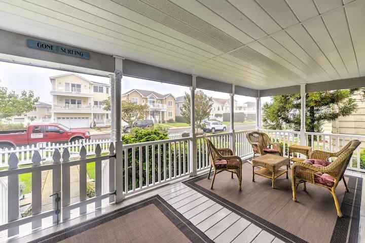 Brigantine Home w/Porch, Just 1 Block to the Beach