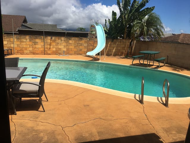 Mililani guest suite with pool, Central Oahu