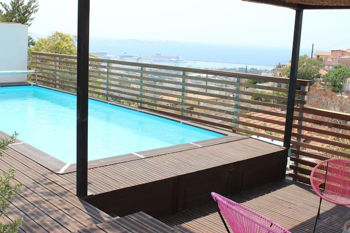 Belle villa et incroyable vue mer - Marsylia - Dom