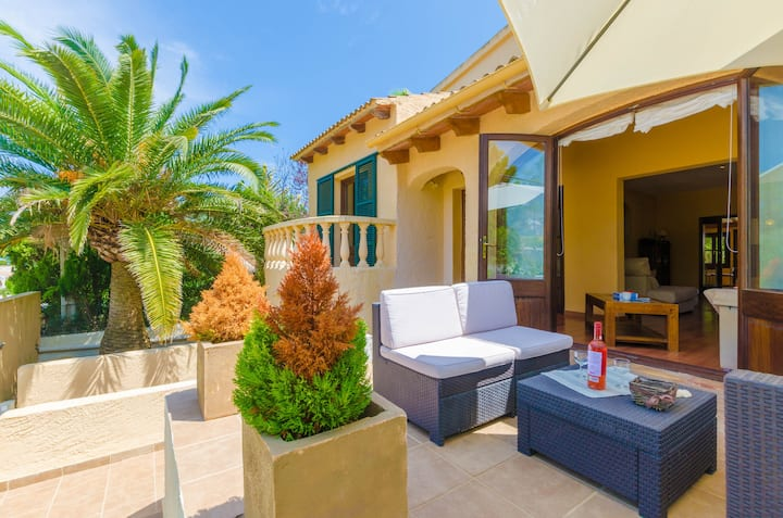 RUDY - Chalet with private pool in Son Serra de Marina. Free WiFi