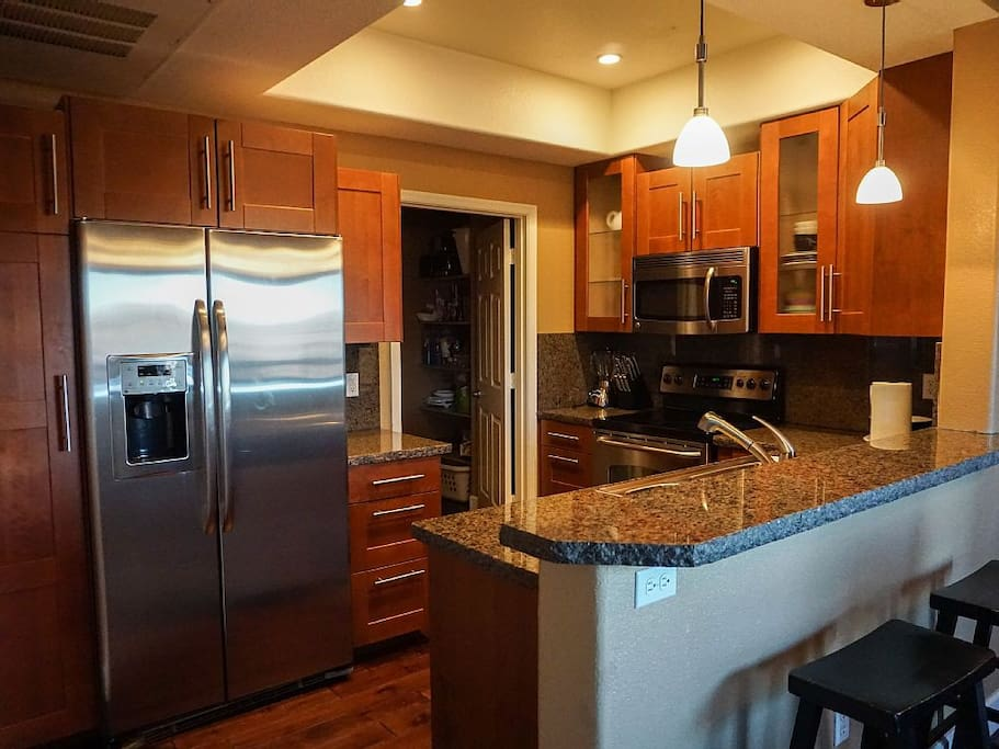 Granite Counters, Stainless Steel Appliances, Upgraded Cabinets