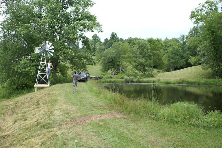 Small fishing pond