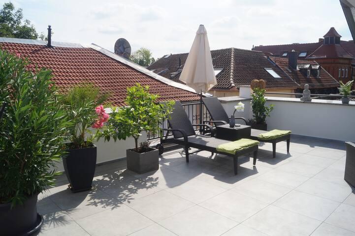Schicke Ferienwohnung mit großer Dachterrasse (A5)
