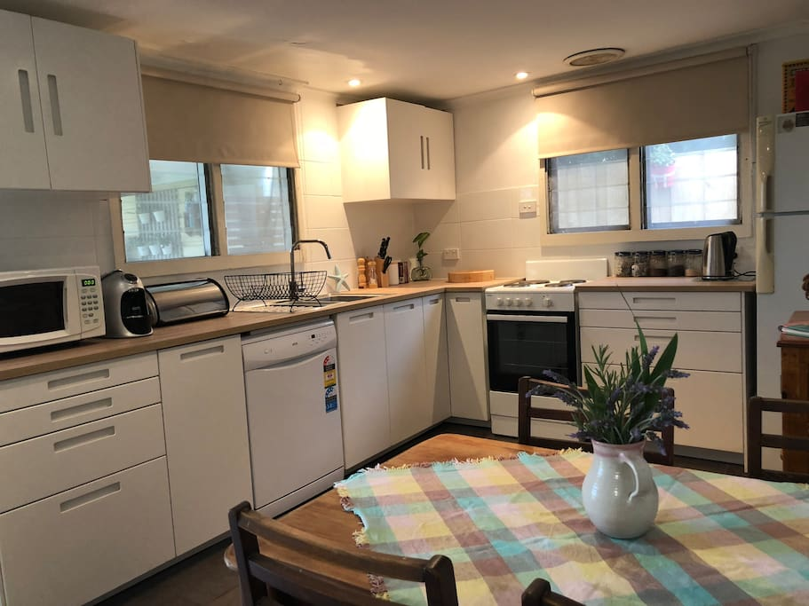 Brand new contemporary  kitchen . Fully equipped with coffee pod machine, and dishwasher