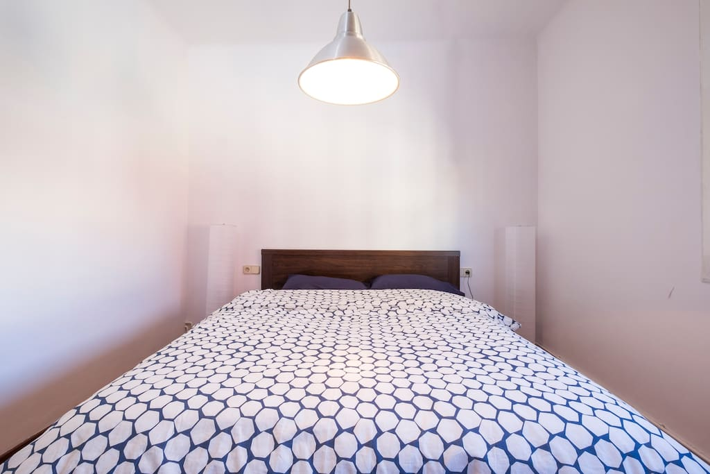 Large double bed/Lots of light during the day