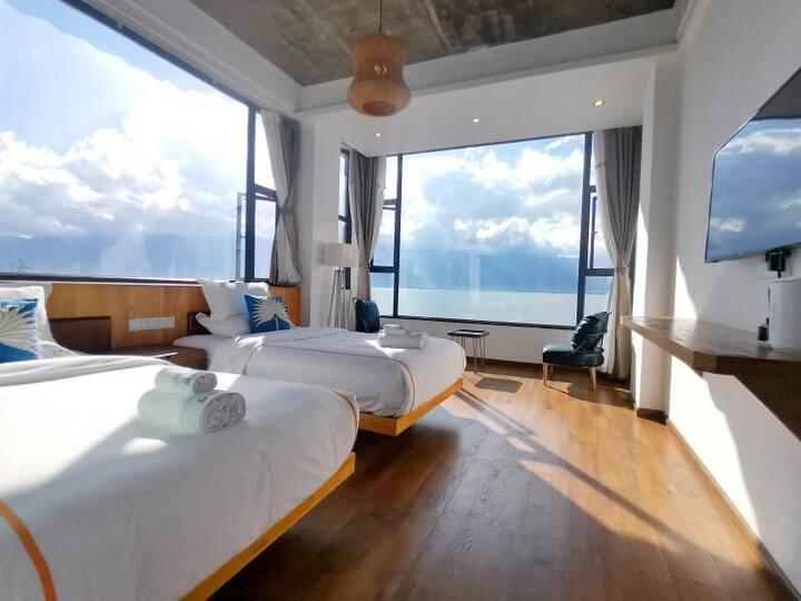 270度云朵海景双床-5号院-免费下午茶/天空之镜打卡