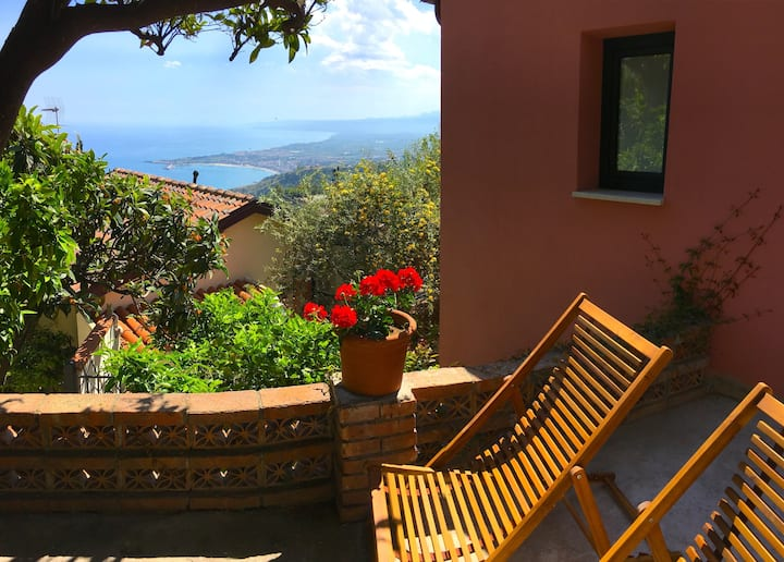 Margot's House  Sea View Terrace  Etna Taormina