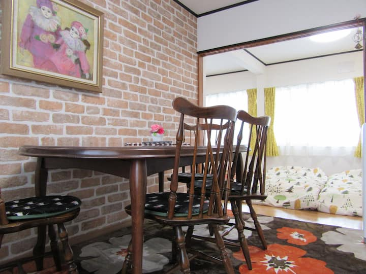 Orange /Cozy Apt/Asahiyama Zoo/Free Wifi& Parking!
