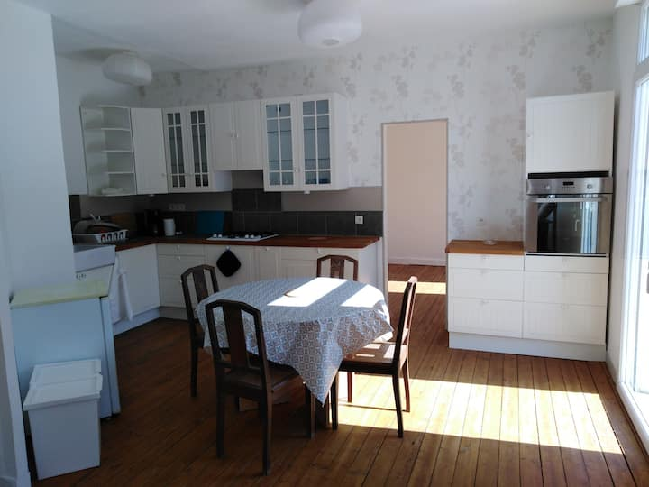 2 chambres + sdb dans maison dédiée aux voyageurs