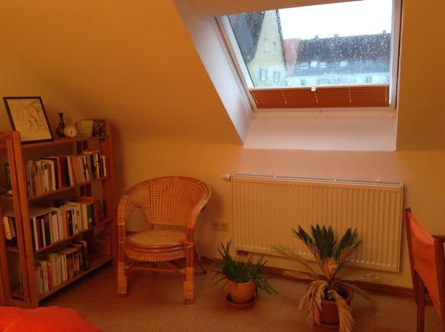 Hübsches Dachzimmer mit eigenem Bad - Nürnberg - Bed & Breakfast