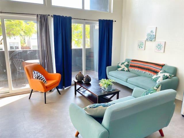 106 Modern Little Italy Loft w/ Free Parking & Private Balcony