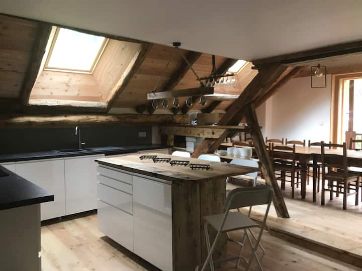 Barn conversion in Vallouise village
