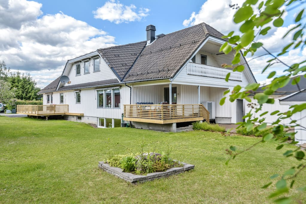 The apartment is located in the front part of our villa.