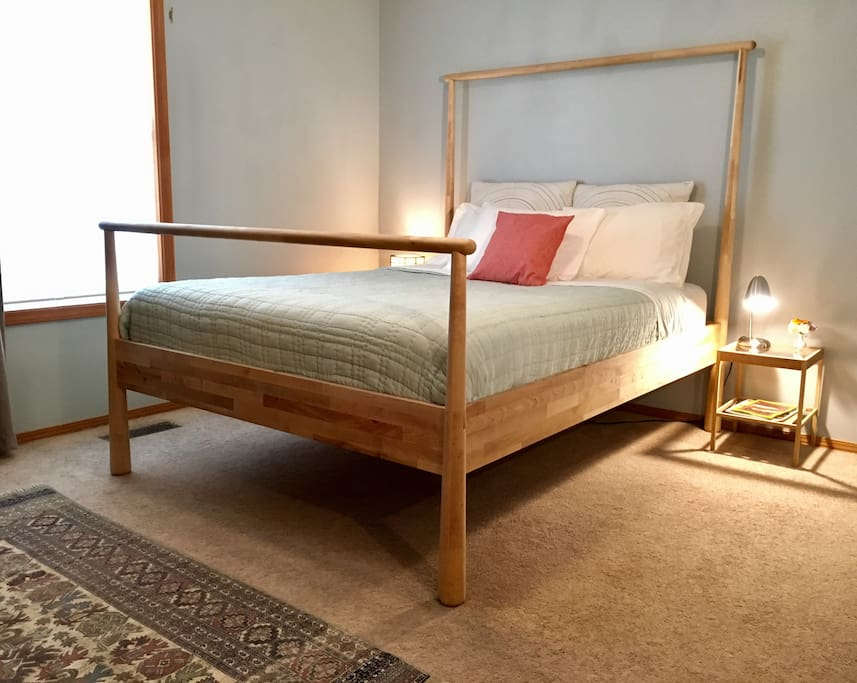 We have a new platform bed! It's beautiful and comfortable.