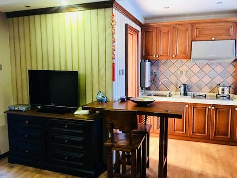 [经典美式民宿]开敞厨房•地铁•舒适柔软大床