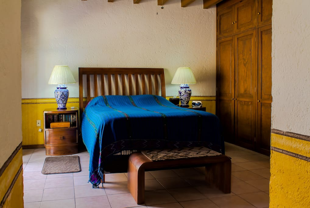 Master Bedroom, queen size bed, lots of closet space, ceiling fan, comfortable & quiet