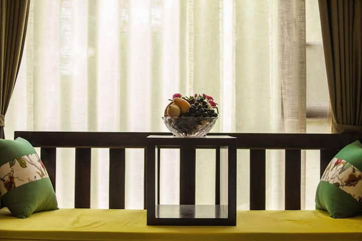 束河萍公馆安静温馨舒适阳光大床房