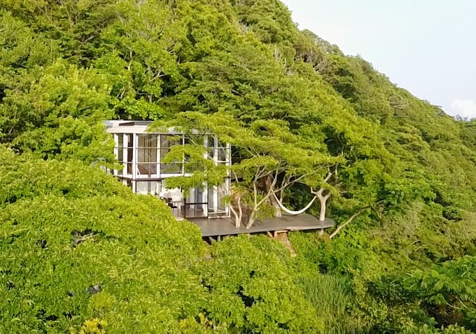Izu Cliff House. Open Ocean Views. National Park.