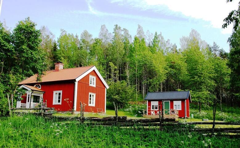 Cozy house near lake Tången