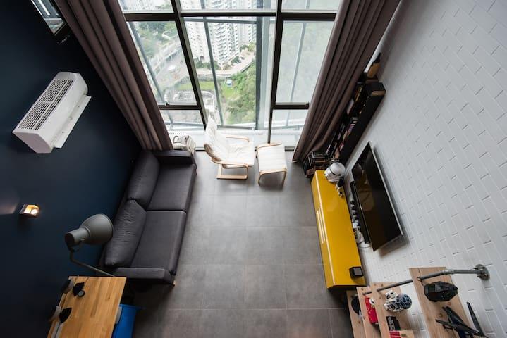 Central Duplex | Wifi Netflix | IKEA, MRT Station - Petaling Jaya - Loft