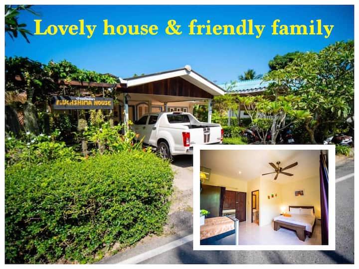 Lovely House & Friendly Family