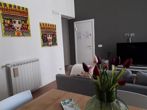 At Giovi's home