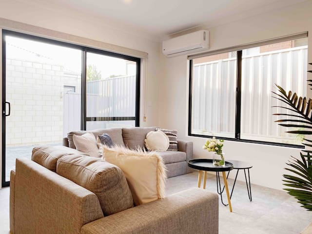 Villa B living with new lounge sofas