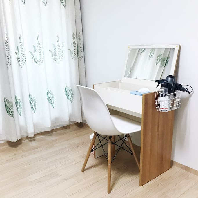 Make up table in private room