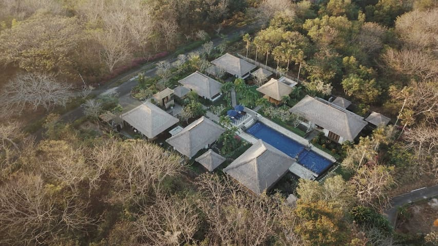 Bird's eye view of our tranquil villa, yet moments away from the heart of Nusa Dua