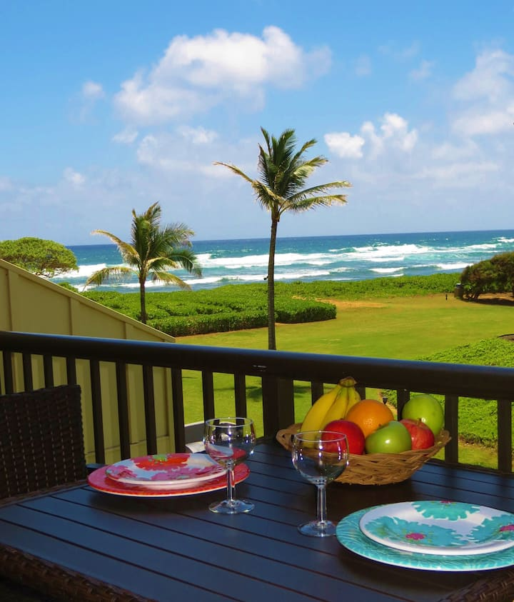 Enjoy views and sounds of the ocean from lanai!