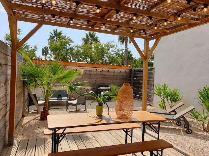 T3 jardin pour 4 à 6 pers 30m plage 400m Sanary