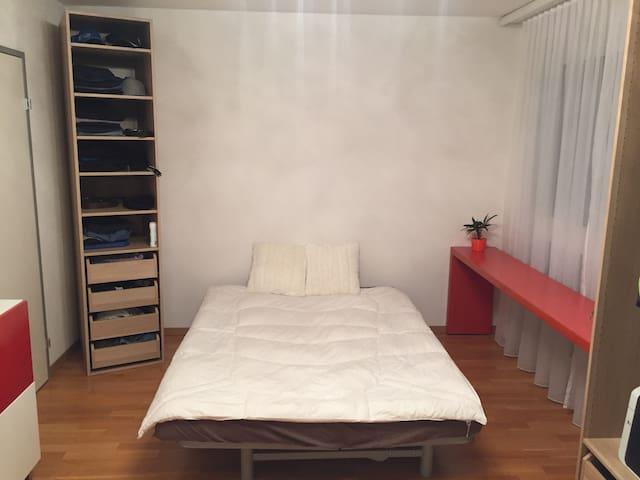 Modernes gemütliches Zimmer - Stein - Wohnung