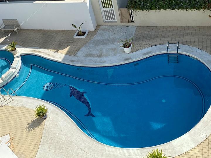 Entire luxury villa +pool & rooftop near the beach