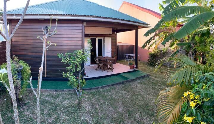 bungalow équipé.