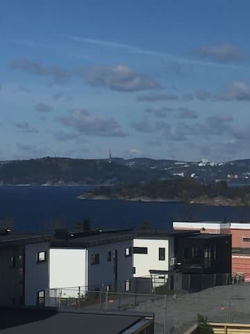 Utsikt fra takterrasse