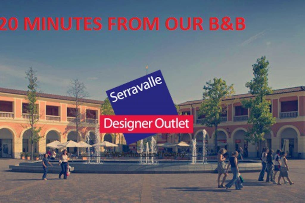 20 Minutes far from Serravalle Outlet