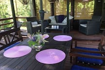 The main terrace - Dining and Sitting area!