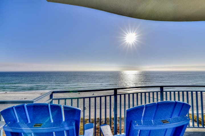Pristine, waterfront condo w/ a shared, outdoor pool, hot tub, & fitness room