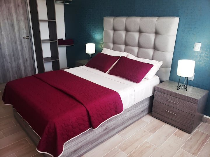 Magnifica habitación #4 Cerca CAS, CONSULADO. EXPO