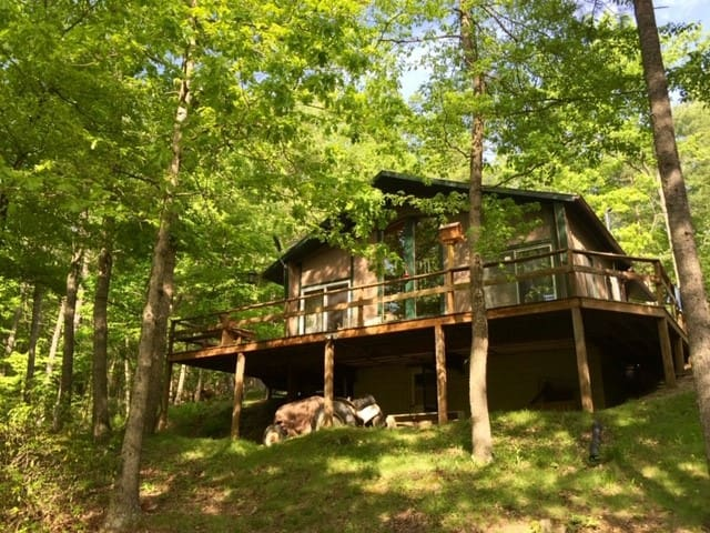 Shalom Retreat Chalet 6.9 wooded, secluded acres!