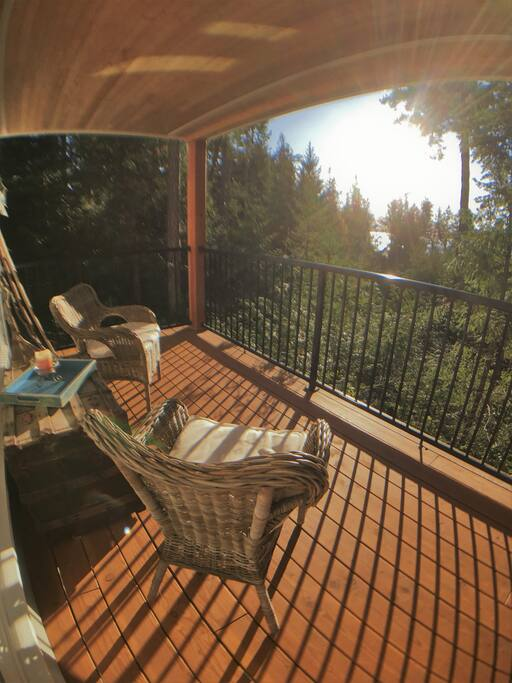 Soak up the afternoon sunshine on your private deck.