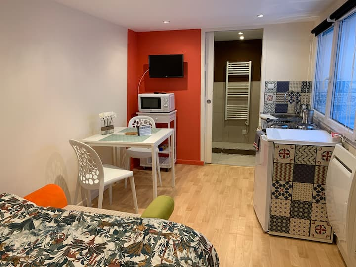 Studio cosy au Sart avec terrasse à 10' Lille
