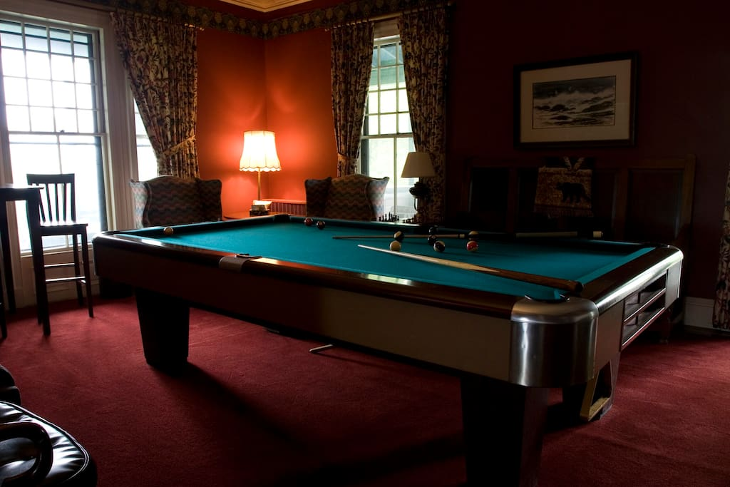 Sharpen up your game in the Billiards Room