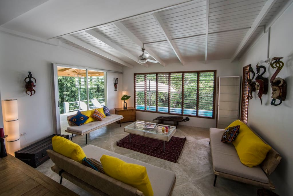 A perfect blend of treehouse and charming, stylish Caribbean villa.
